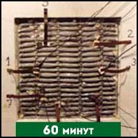 Ventilodice V через 60 минут испытания на огнестойкость (сторона, не подверженная воздействию огня)